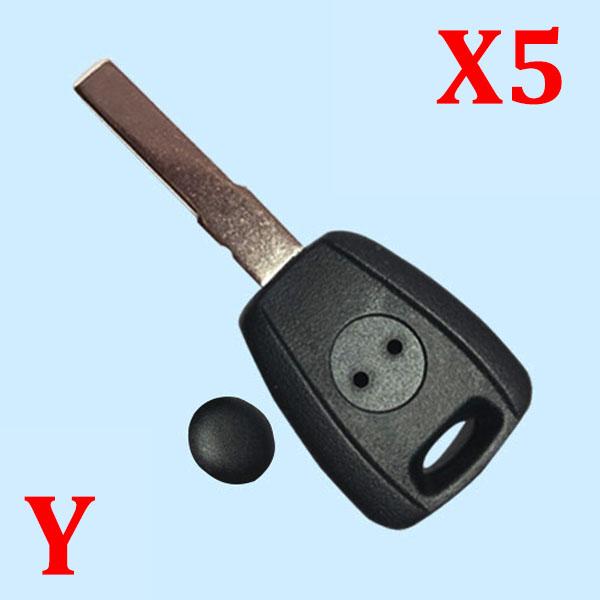 Transponder Key Shell SIP22 for Fiat (5pcs)
