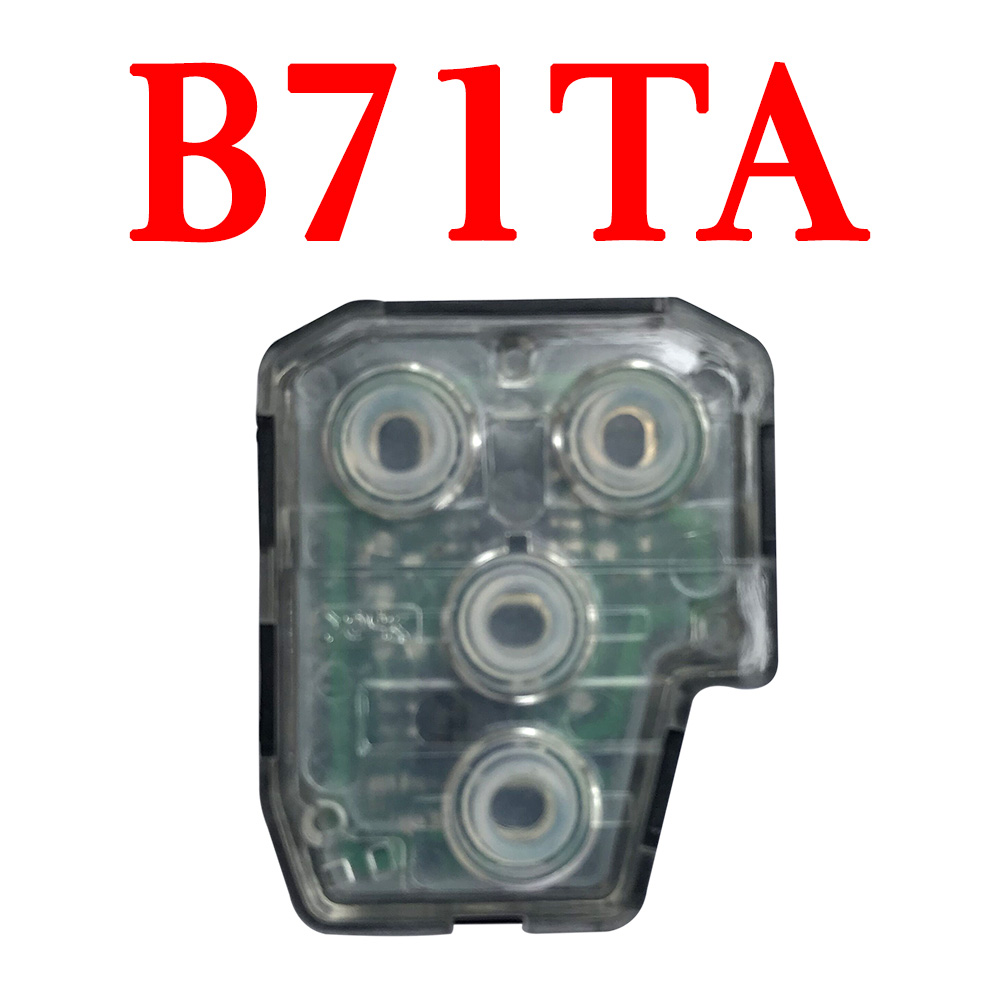 4 Buttons 434 MHz Remote Control Interior for Toyota Lexus Camry Vios B71TA