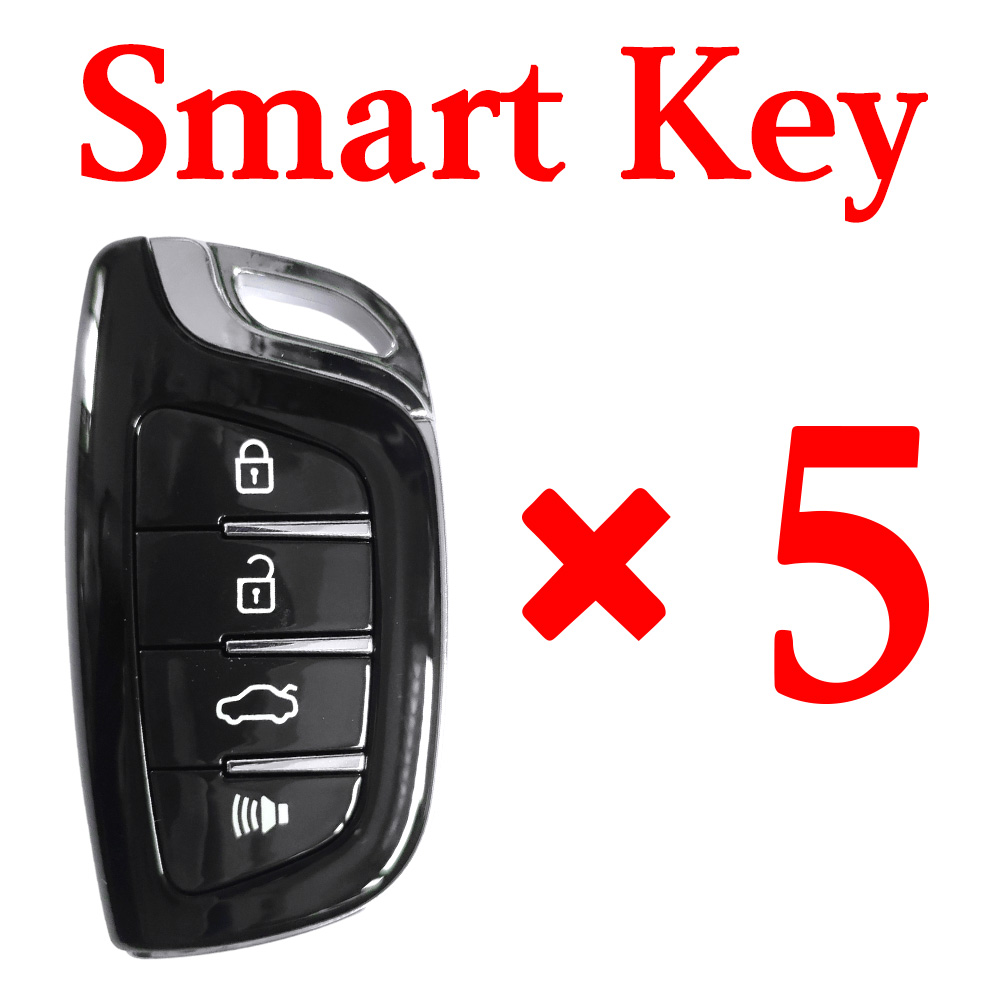 Xhorse VVDI Universal Smart Key with Proximity - 4 Butoons - 5pcs