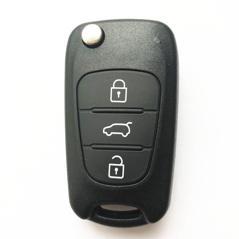 3 Buttons Flip Remote Key Shell Big Trunk HYN14R for KIA (5pcs)