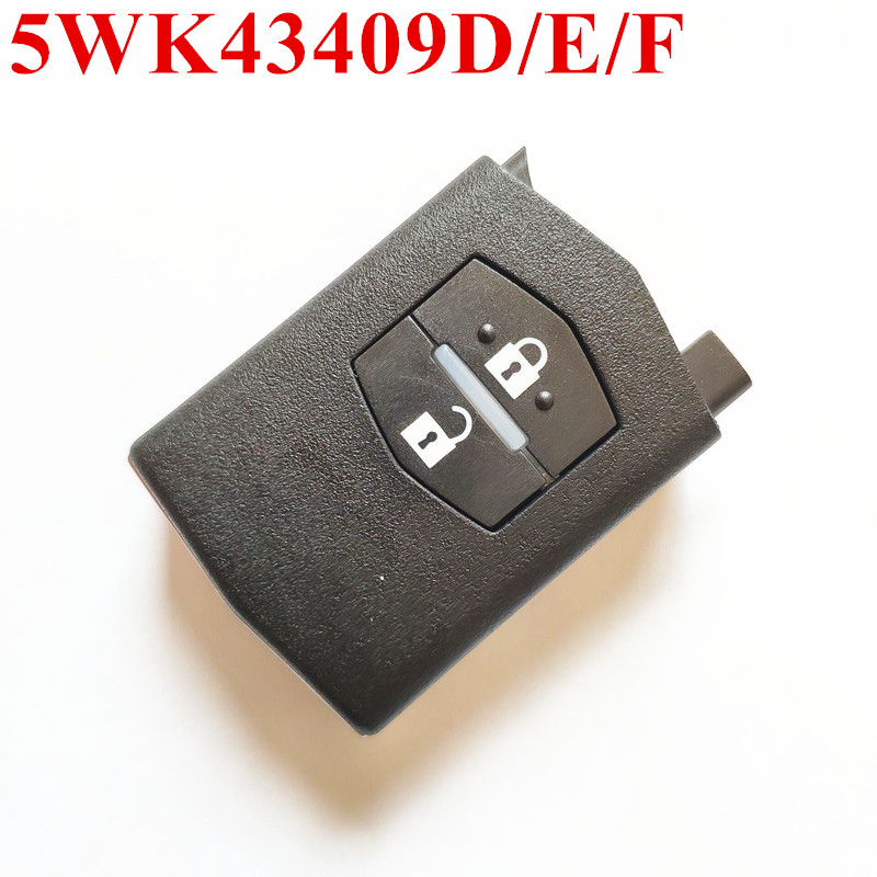 2 Buttons Car Remote Key Fit for MAZDA 5WK43409D 5WK43409E 5WK43409F for M2 Demio M3 Axela M5 Premacy M6 Atenza M8 MPV