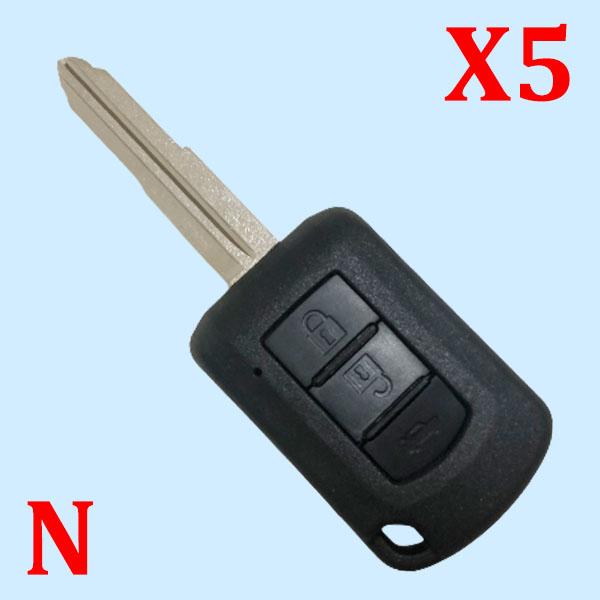 3 Buttons Key Shell For Mitsubishi - 5 pcs