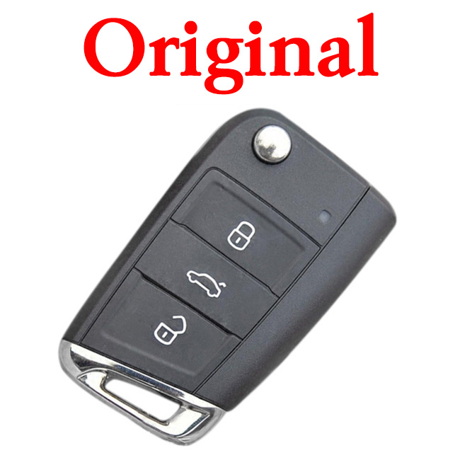 Original 3 Buttons 434 MHz MOQ Flip Remote Key for VW  - 5G0 959 753 BB