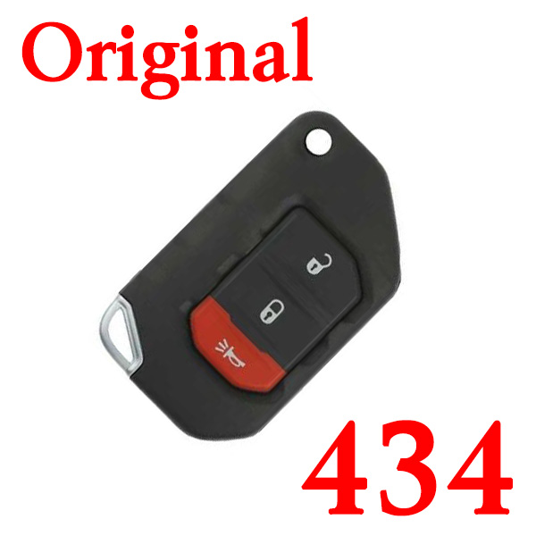 Original 3 Buttons 434 MHz Smart Key for 2018-2021 Jeep Wrangler Gladiator PN: 68416782AA / OHT1130261