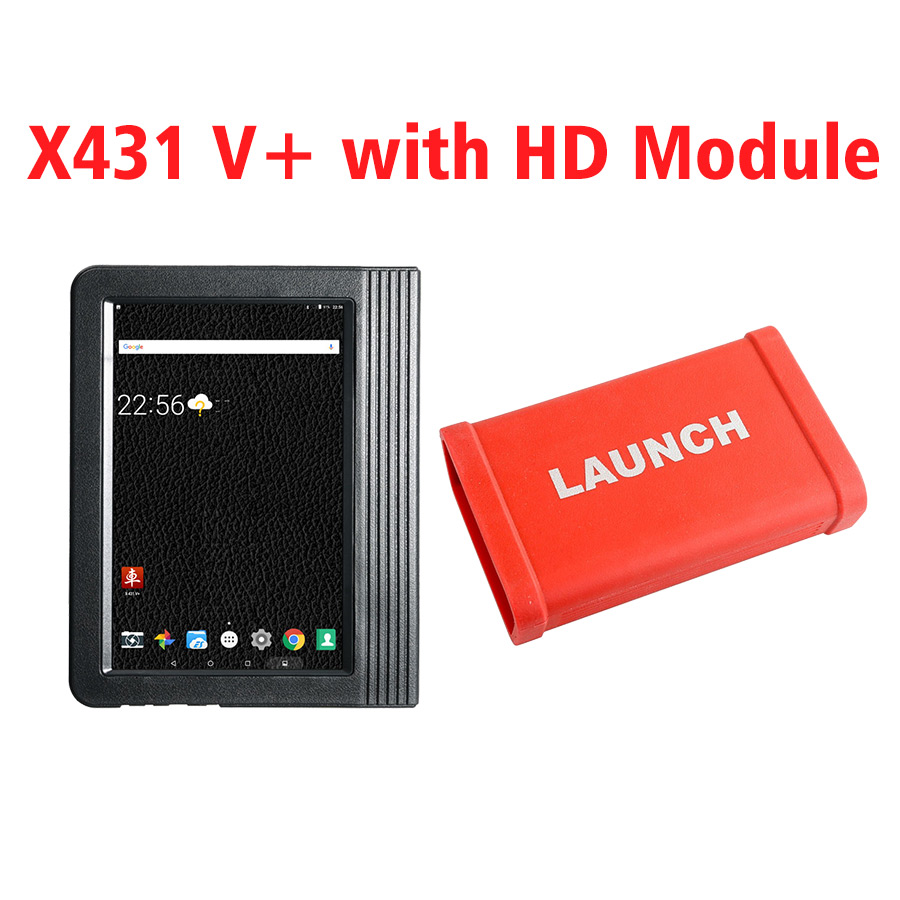 Launch X431 V+ 10.1 inch Tablet Global Version with X431 Heavy Duty Module - For 12V & 24V Cars and Trucks