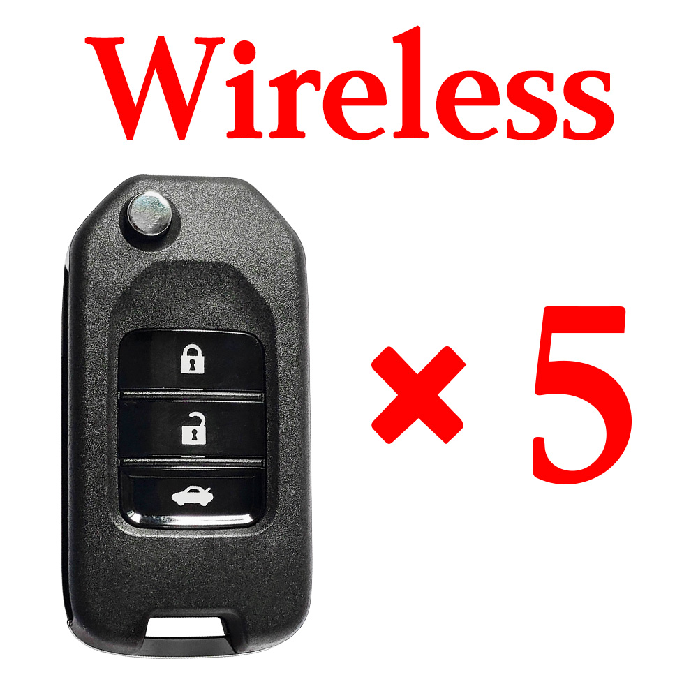 5 pieces Xhorse VVDI Honda Type Wireless Remote Control  - with Blades & Logos