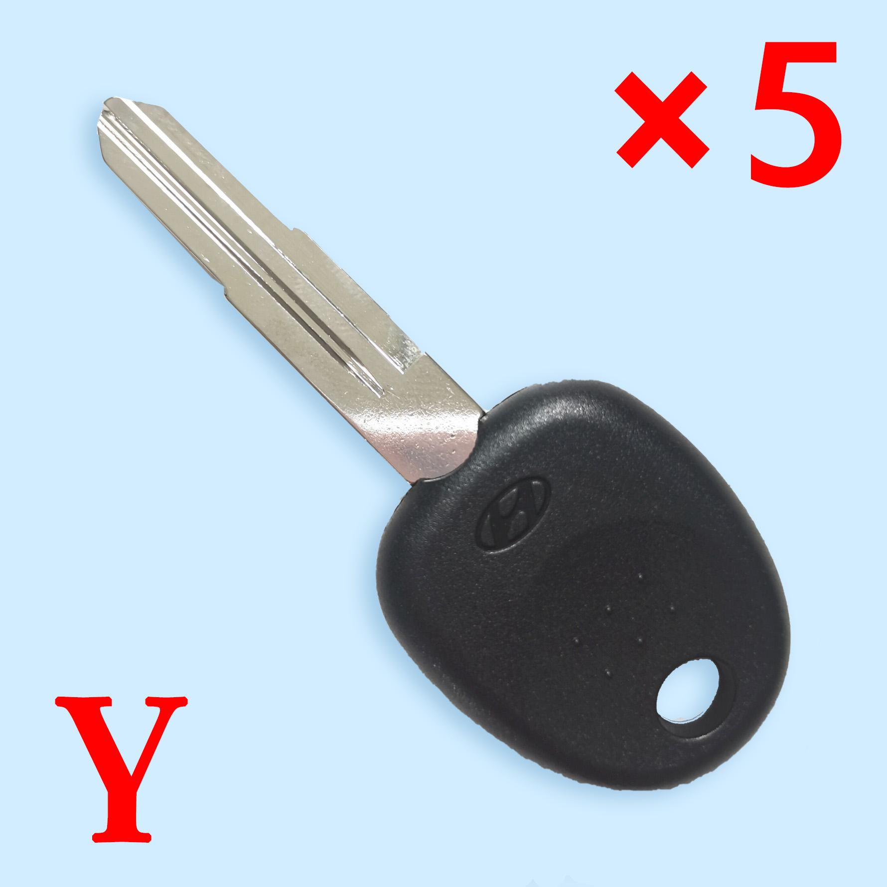 HYN7R Transponder Key Shell for KIA Hyundai - Pack of 5