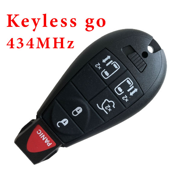 434 MHz 5+1 Buttons Smart Proximity Keyless Go Key for Chrysler / Dodge / VW /Jeep - with PCF7952 ID 46 Chip