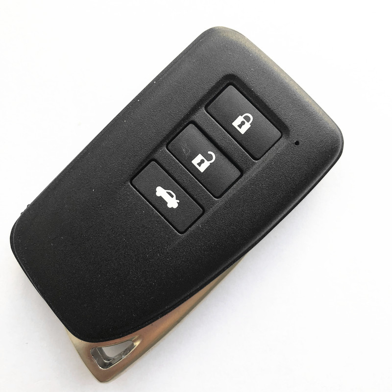 3 Button Key Shell for Lexus Smart Remote - Pack of 5