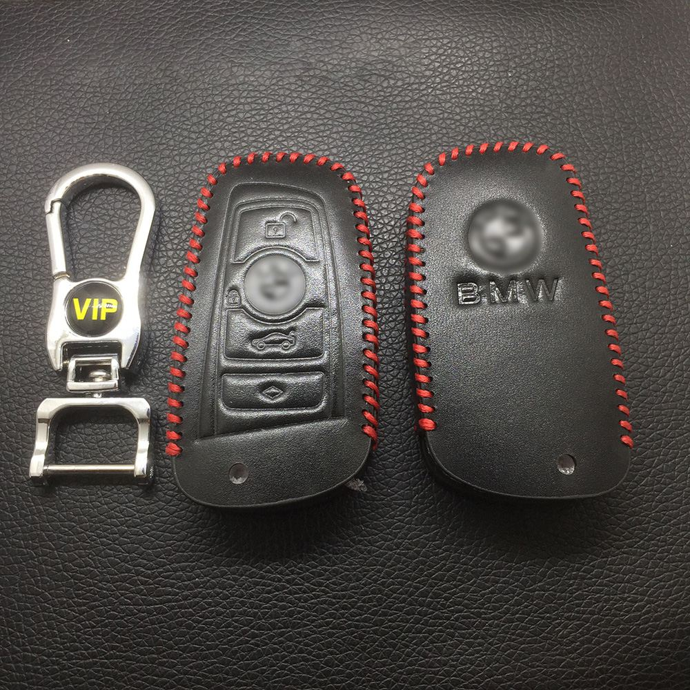 Leather Case for BMW F Series 4 Buttons Smart Card Car Key - 5 Sets