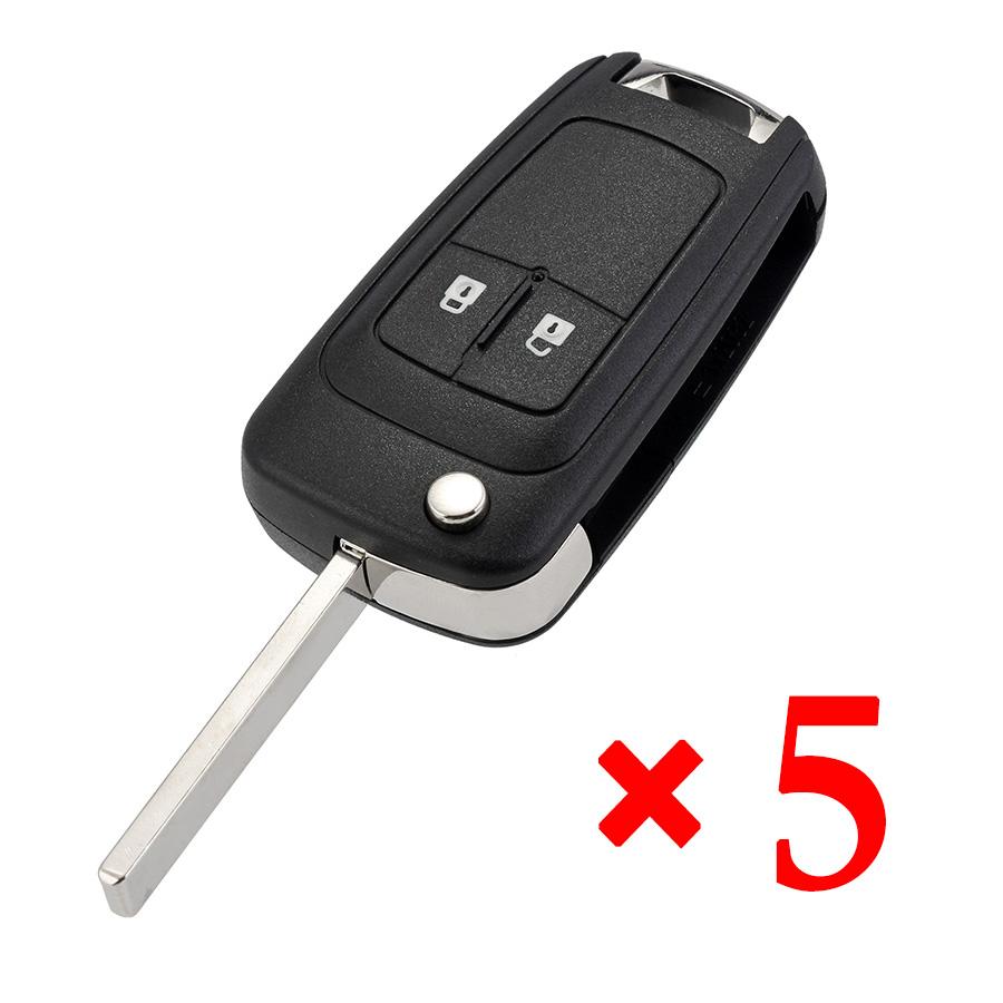 2 Button Key Shell for Buick 5pcs