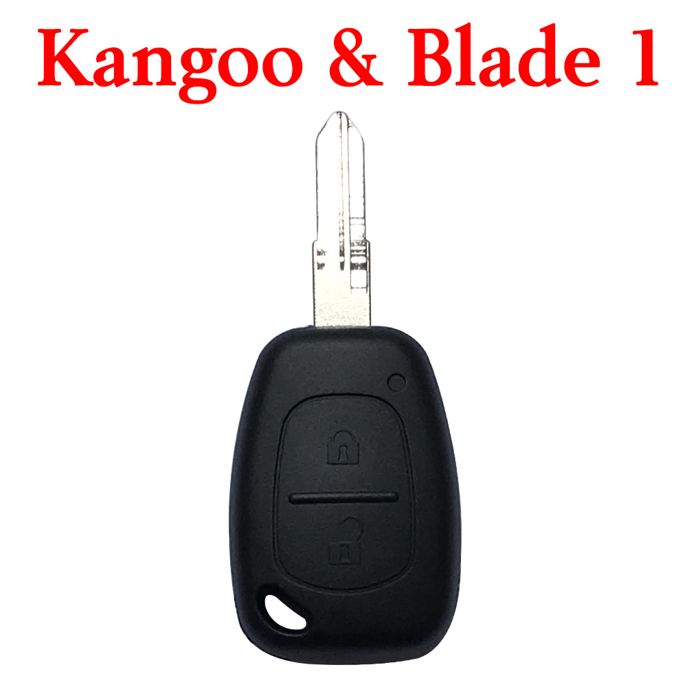 2 Buttons 434 MHz Remote Key for Kangoo - With New Type Blade