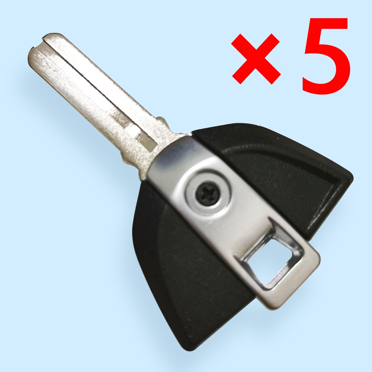 Transponder Key Shell Laser Blade for BMW Motorbike Black - Pack of 5