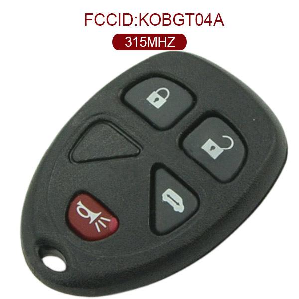 AK019006 for GMC 3+1 Button Remote Set(USA) 315MHz KOBGT04A