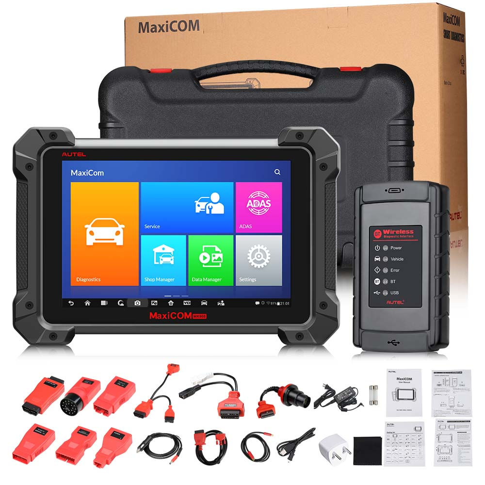 Original Autel MaxiCOM MK908 All System Diagnostic Tool Support ECU/Key Coding Updated Version of Maxisys MS908