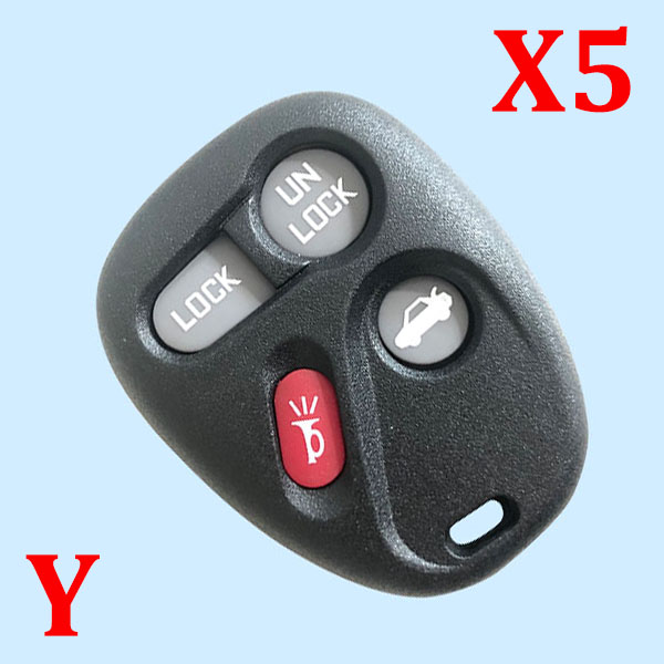 4 Button Key Shell for Buick 5 pcs