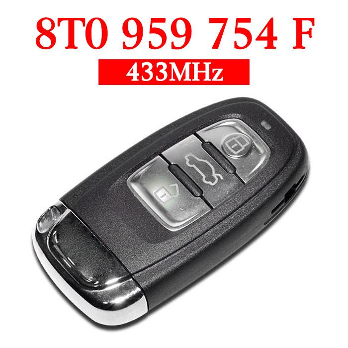 434 MHz Remote Key for Audi A4L Q5 - 8T0 959 754F