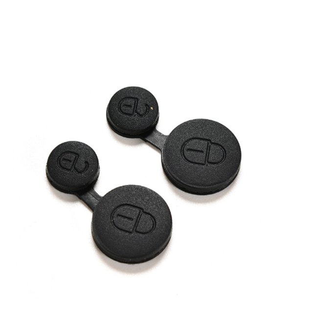 2 Button Rubber Pad For Peugeot - Pack of 10