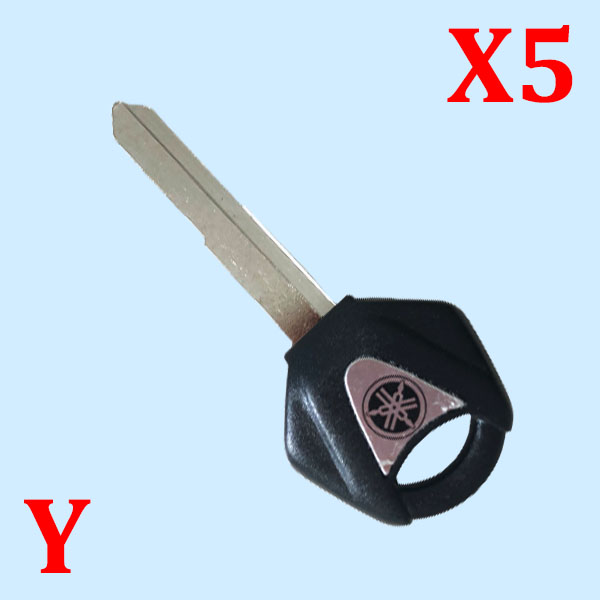 Motorbike Transponder Key Shell Black Right Blade for Yamaha - Pack of 5