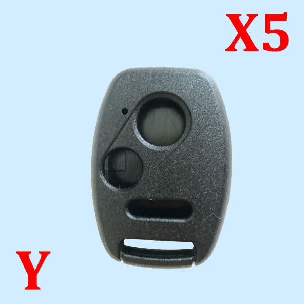 2+1 Buttons Car Key Case Shell Remote Fob Cover For HONDA Accord Civic CRV Pilot Fit Insight Ridgeline No Blade Case 5pcs
