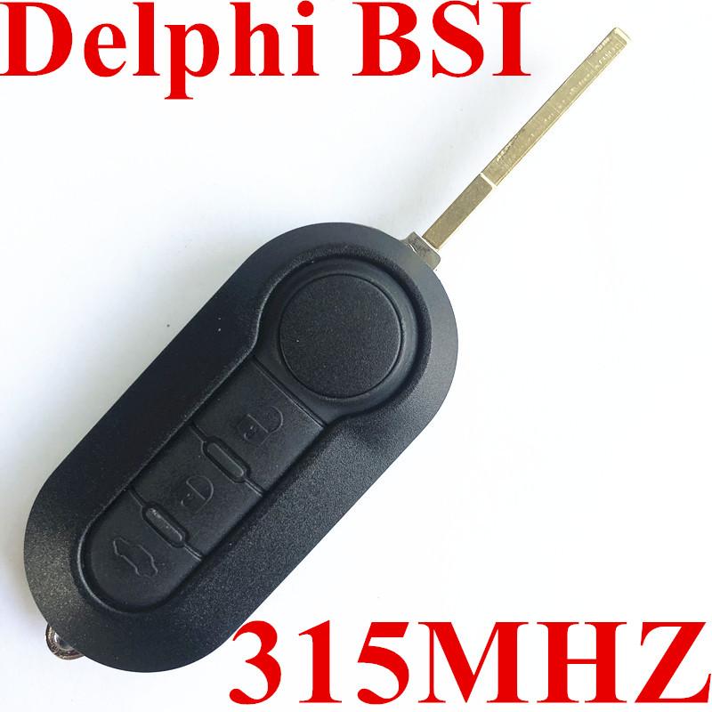 3 Buttons 315 MHz Flip Key For Fiat 500 / Dodge (Delphi BSI)
