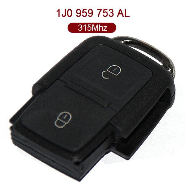 for VW Remote Key 2+1 Button 315MHz 1J0 959 753 AL
