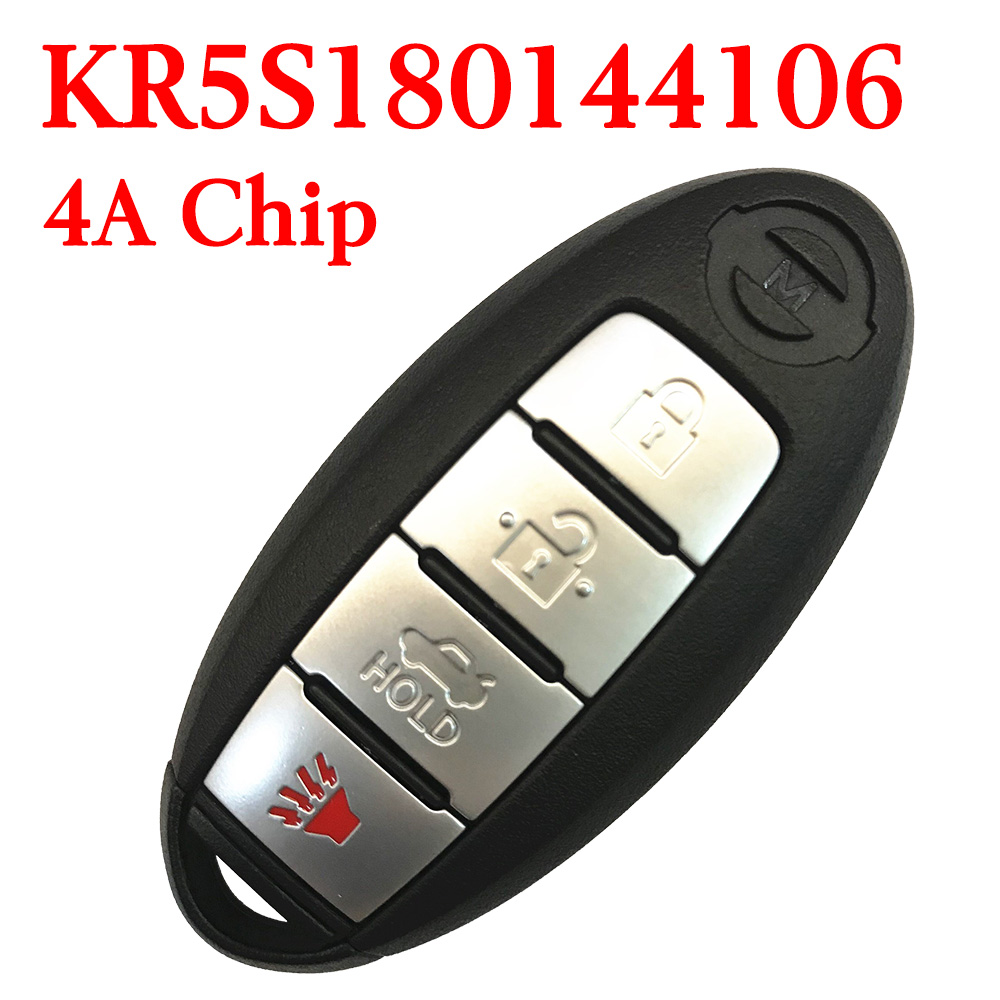 Original 434 MHz 3+1 Buttons Smart Proximity Key for Nissan Rogue Pathfinder 2014-2016 - KR5S180144106