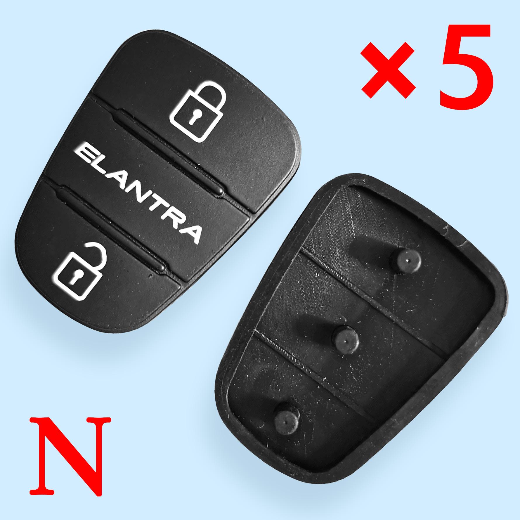 3 button Remote Keys Rubber Button Pad for Hyundai Kia ELANTRA 10 pcs