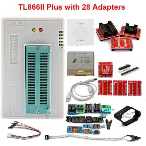 MINI Pro TL866II plus USB Programmer with 28 pcs Full Adapters