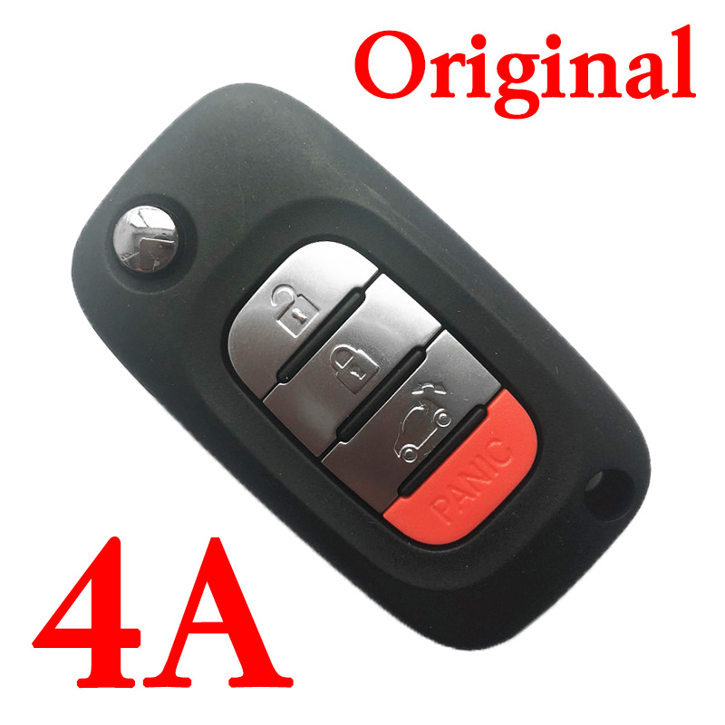3+1 Buttons OEM Flip Remote Key 433MHz with 4A chip for Mercedes-Benz Smart Fortwo 453 Forfour 2015-2017