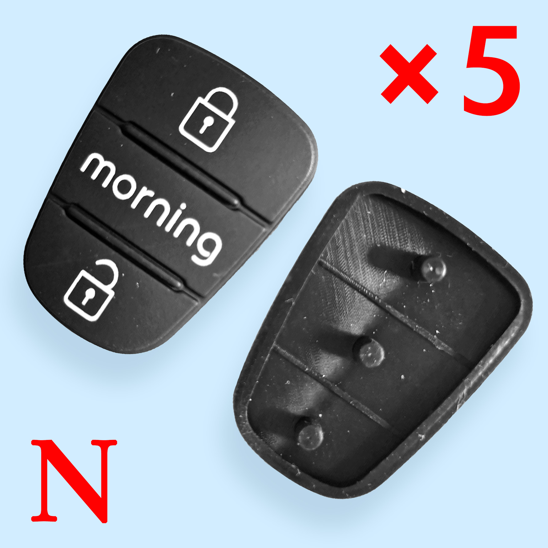 3 Buttons Rubber Pad for Hyundai  - 5 pcs
