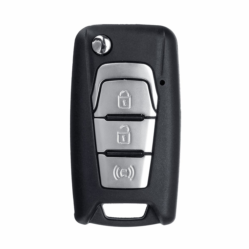 3 Button Flip Key Case Shell for SsangYong