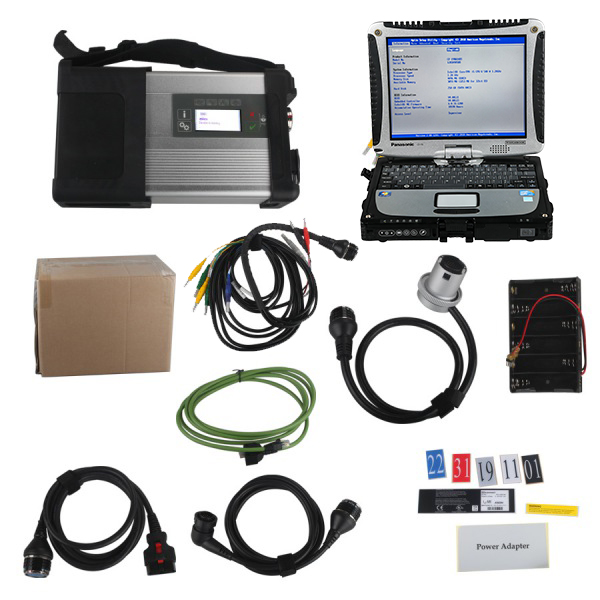 V2020.6 MB SD C5 Connect Compact 5 Star Diagnosis with SSD Plus Panasonic CF19 I5 4GB Laptop Software Installed Ready to Use