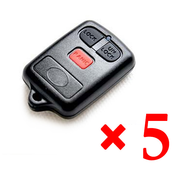 3 Button Key Shell for BYD 5 pcs