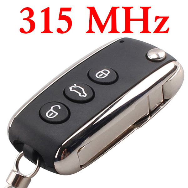 3 Buttons 315 MHz Flip Remote Key for Bentley - No Keyless Go