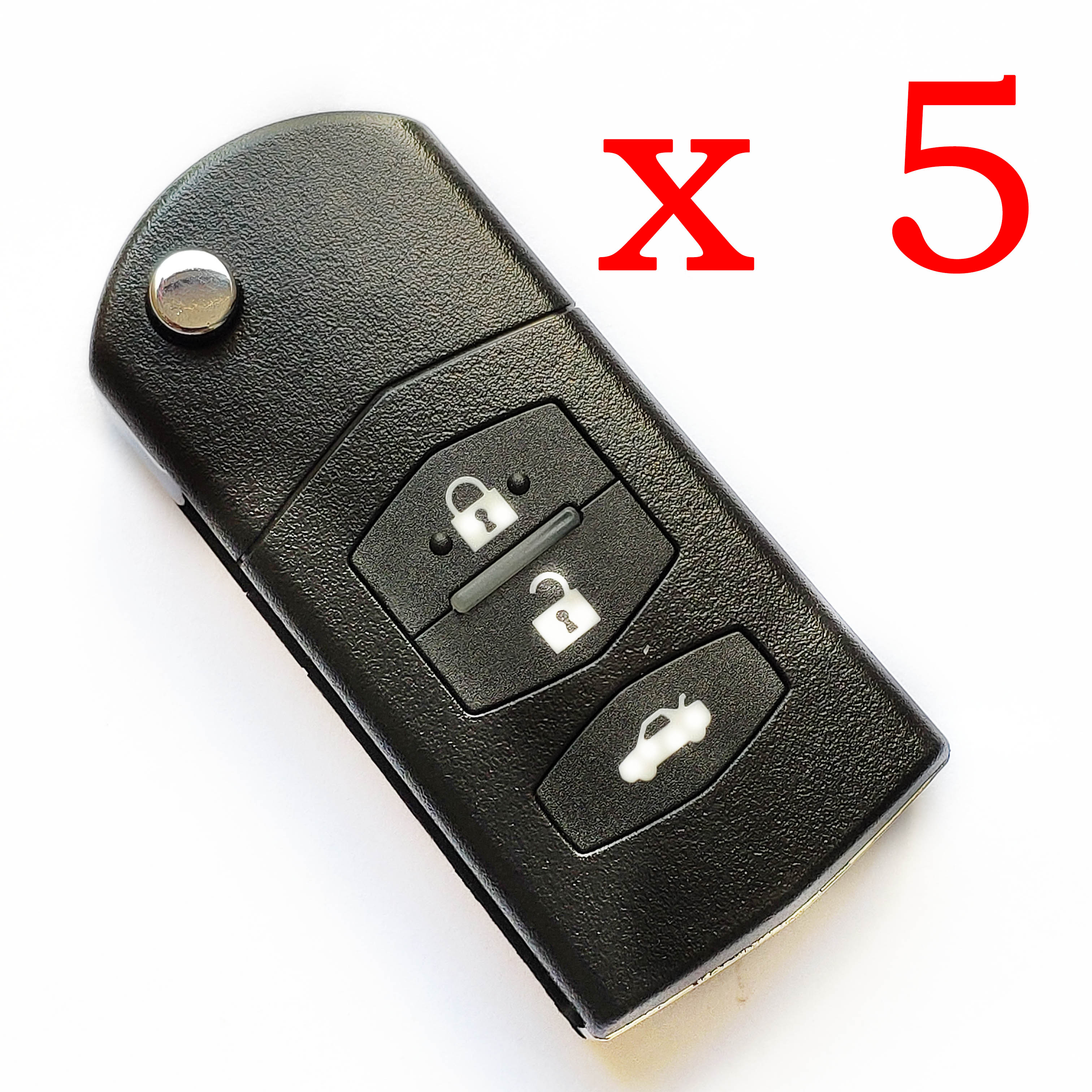 5 pieces Xhorse VVDI 3 Buttons Mazda Type Universal Remote Control - with Blades & Logos