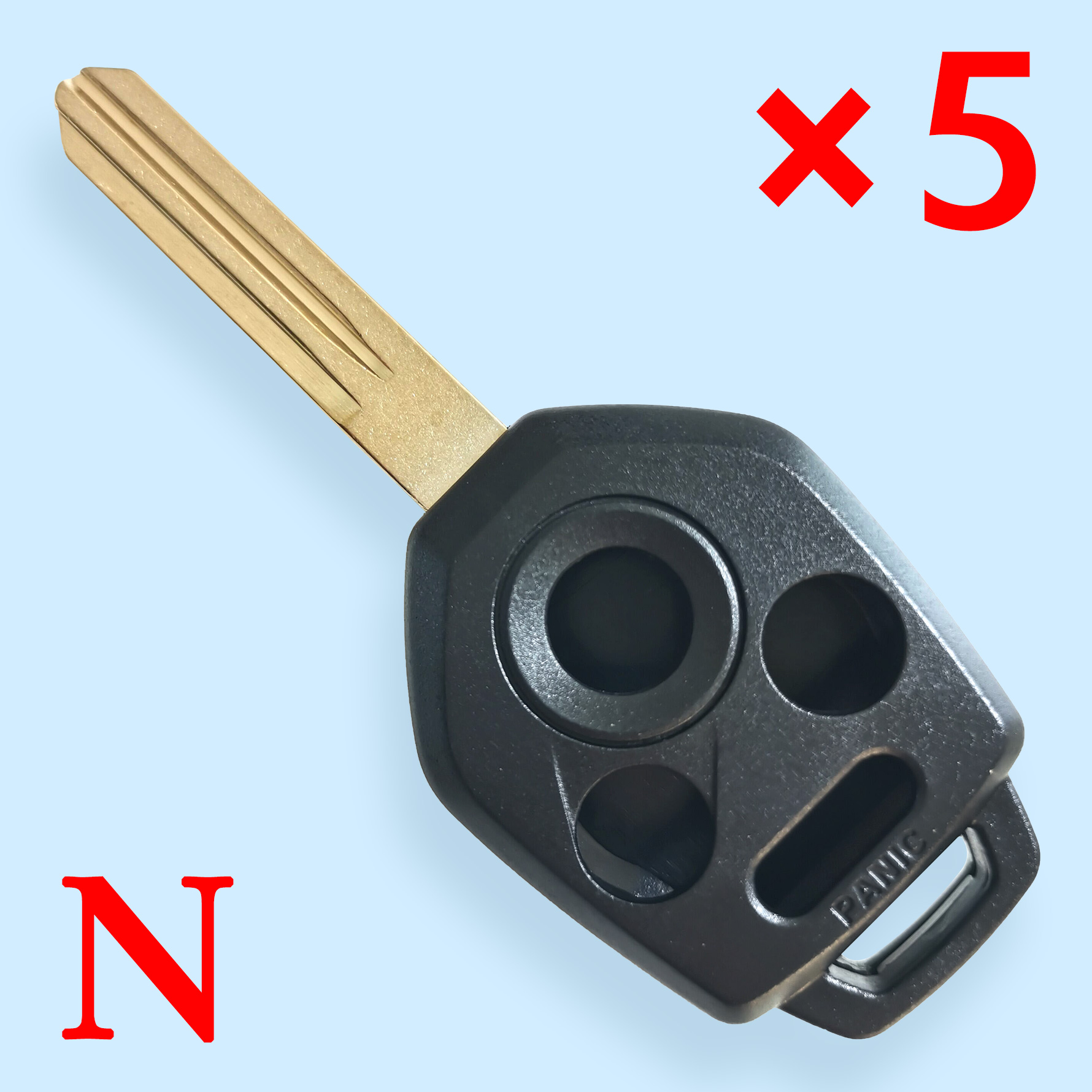 2008-2014 Subaru 4-Button Remote Head Key SHELL Replacement For CWTWB1U811 & CWTWBU766 / DA34 - Pack of 5