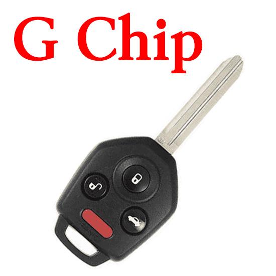 315 MHz 4 Buttons Remote Head Key for 2012-2019 Subaru / CWTWB1U811 / B110 / G Chip 80 Bit