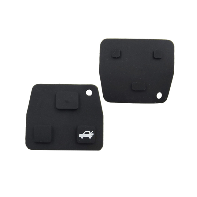 2 Button 3 Button Key Rubber Pad For Toyota Lexus - Pack of 10