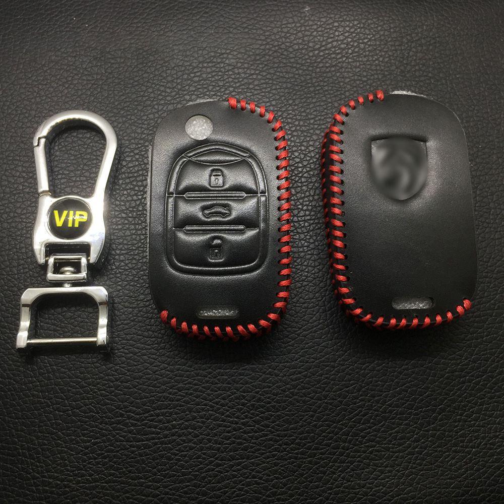 Leather Case for BAOJUN 3 Buttons Folding Car Key - 5 Sets