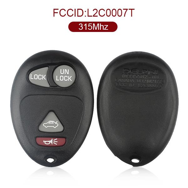AK013003 for Buick 4 Button Remote Set 315MHz L2C0007T