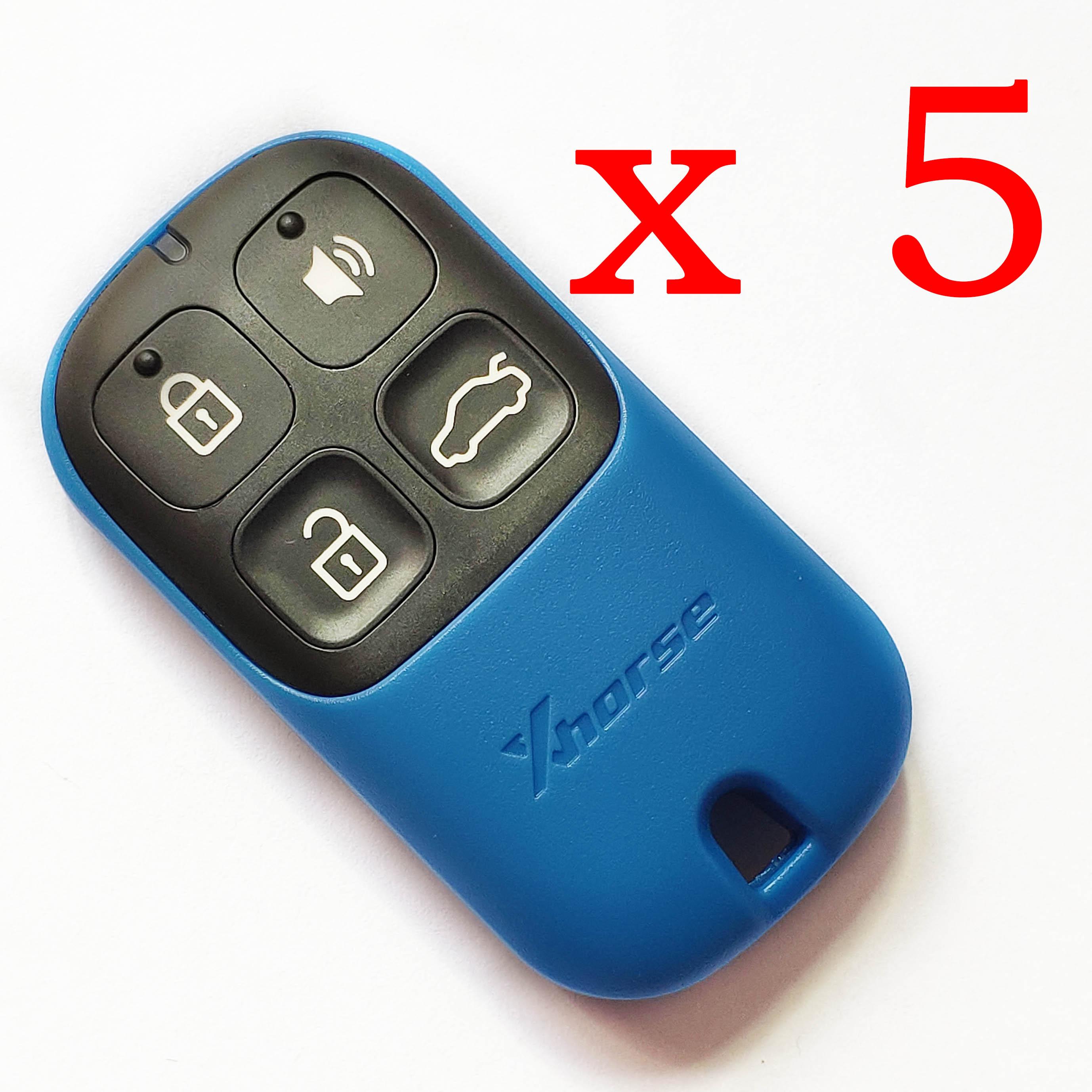 5 pieces Xhorse VVDI Blue Universal Remote Control