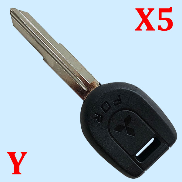 Transponder Key Shell With Right Blade For Mitsubishi- 5 pcs