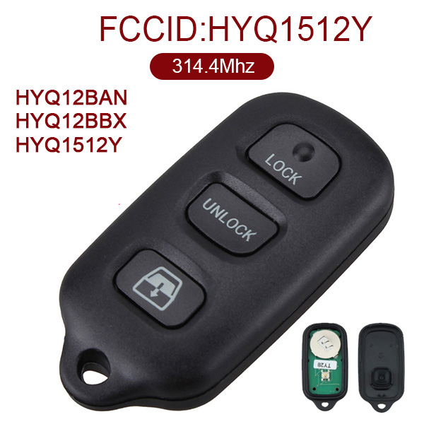 for Toyota 3+1 Buttons Remote Control (USA) 314.4 MHz FCC ID HYQ1512Y