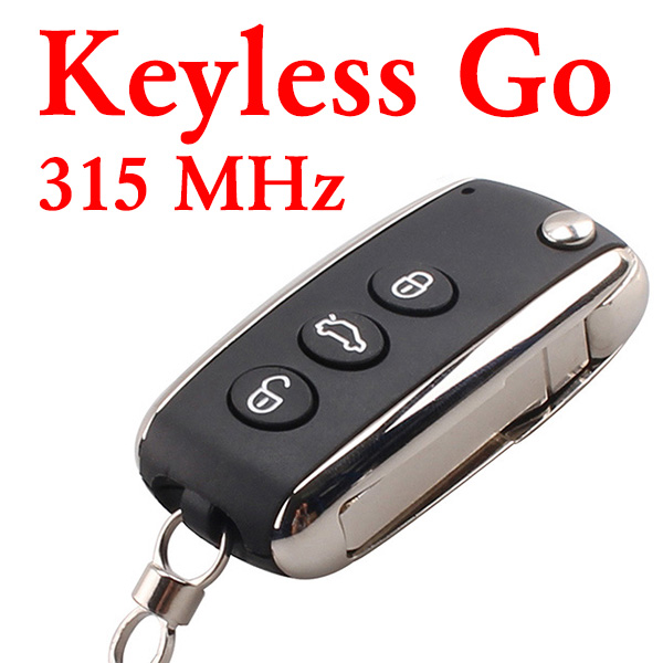 3 Buttons 315 MHz Smart Proximity Key for Bentley - PCF7943 With Keyless Go