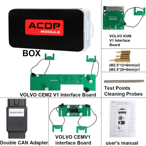 Yanhua Mini ACDP Module12 Volvo Key Programming Support Add Key & All Key Lost from 2009-2018
