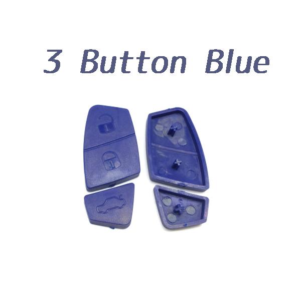 3 Button Rubber Pad Blue Color for Fiat 10 pcs