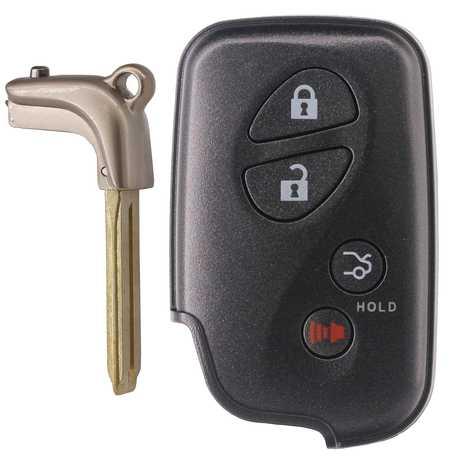 [TOY] [LEX] Smart Remote Key (3+1) Button FSK433.92MHz-5290-ID74-WD03 WD04-Lexus Camry Reiz Pardo (2010-2013) Black (with Emergency Key TOY48)