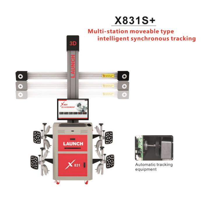 LAUNCH X831S+ X831Plus 3D 4-Post Car Alignment Lifts Platform Supports Multi-language UNICODE