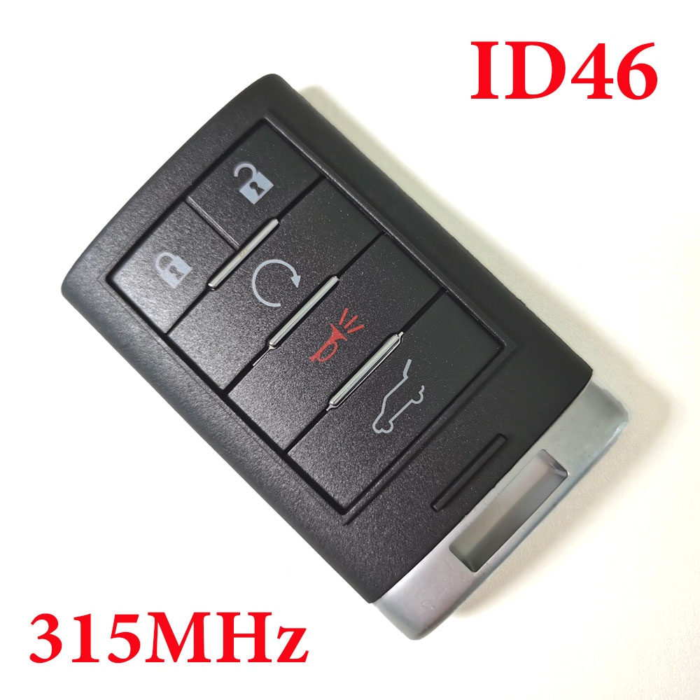 5 Buttons 315 Mhz Proximity Key for Caddilac SRX ATS XTS with 46 chip